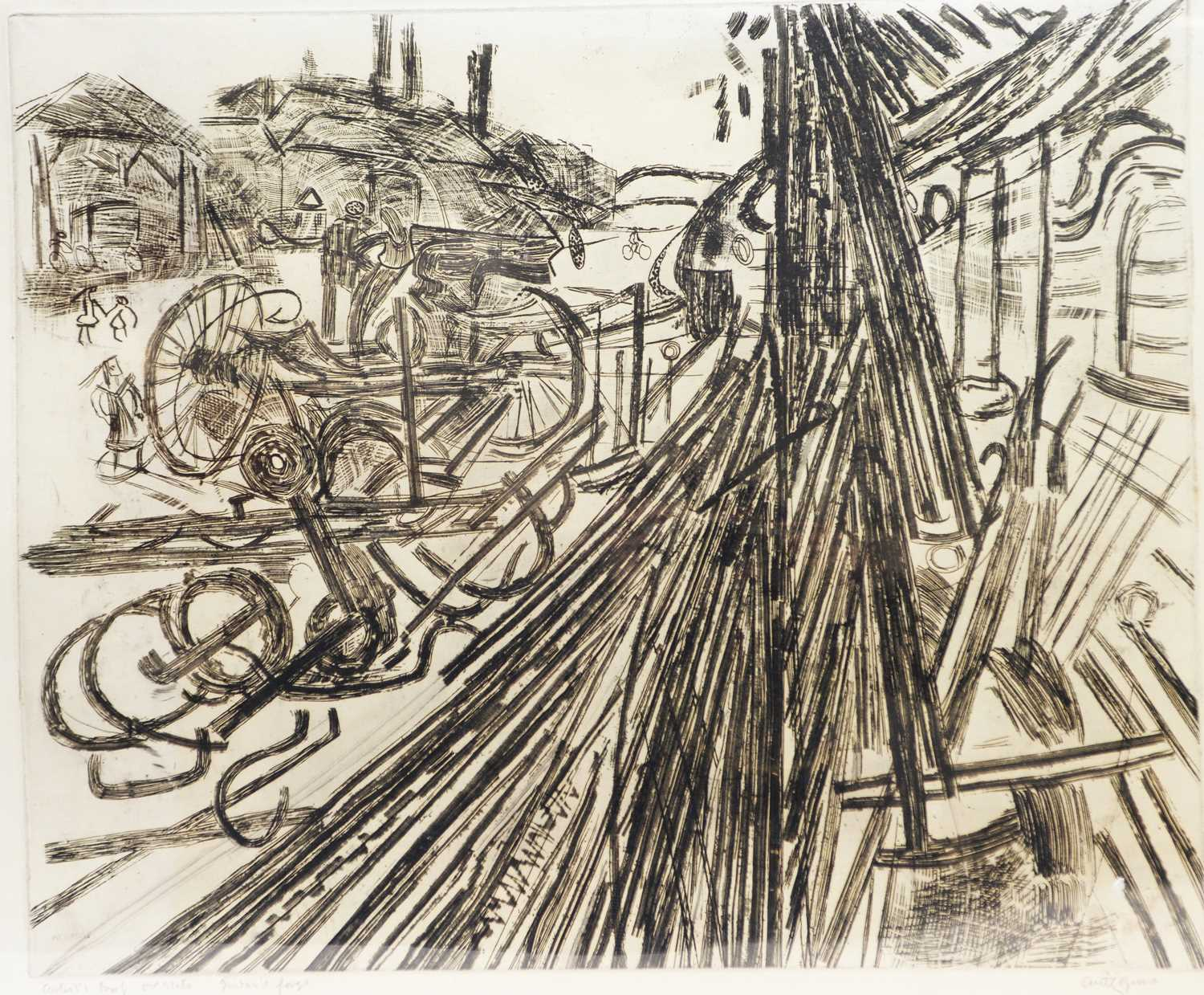 Lot 296 - Anthony Gross - etching.