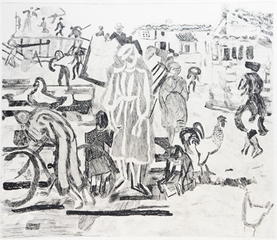 Lot 158 - Anthony Gross - etching.