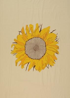 Lot 22 - Sunflower printed fabric