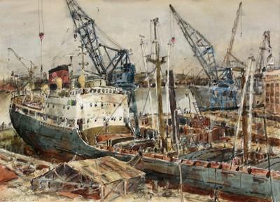 Lot 298-Richard Charles Hobson - watercolour.