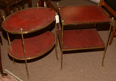 Lot 605 - Two 20th Century brass whatnots