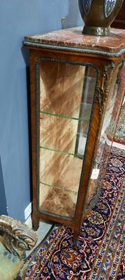 Lot 744 - Edwards & Roberts London, a marble-topped kingwood vitrine