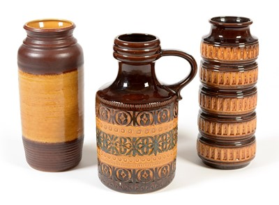Lot 1106a-Three West German pottery vases
