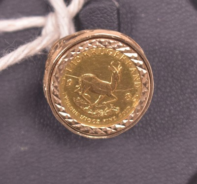 Lot 10A-1/10 Krugerrand coin ring