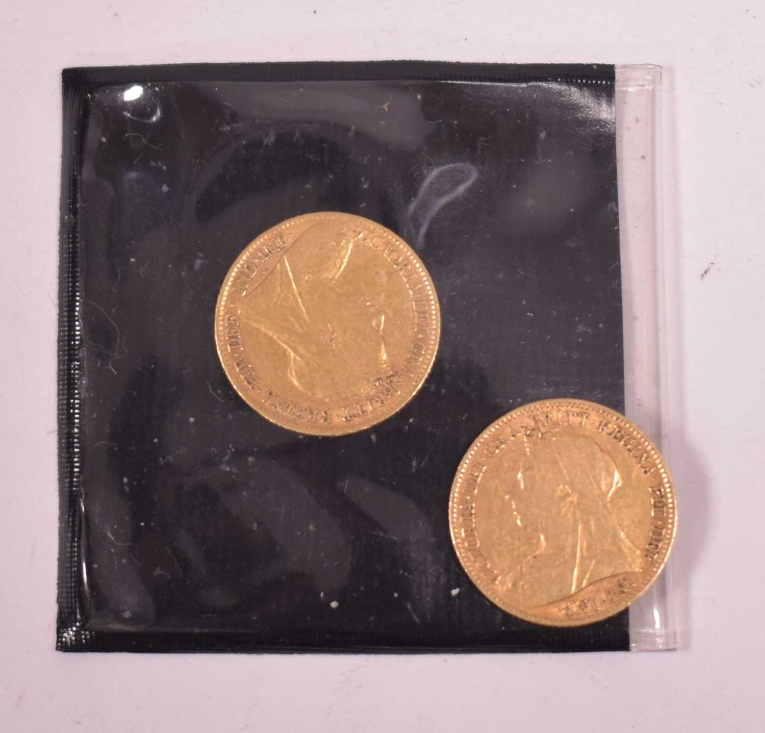 Lot 11-Two gold half sovereigns