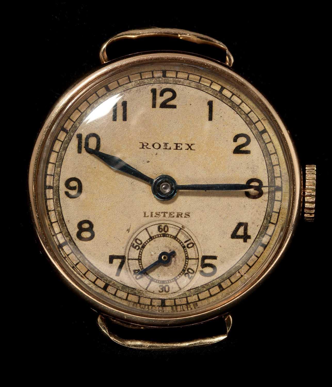 Lot 19-9k gold Rolex lady's cocktail watch