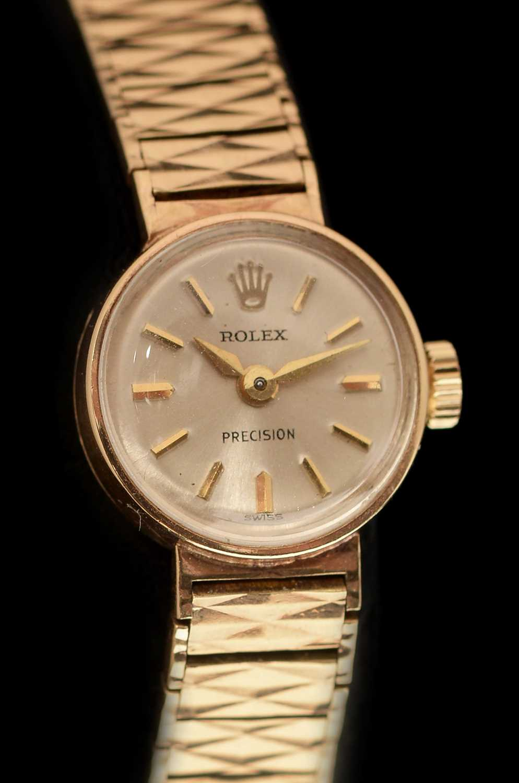 Lot 20-9k gold Lady's Rolex Precision cocktail watch