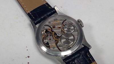 Lot 21-Longines manual wind wristwatch