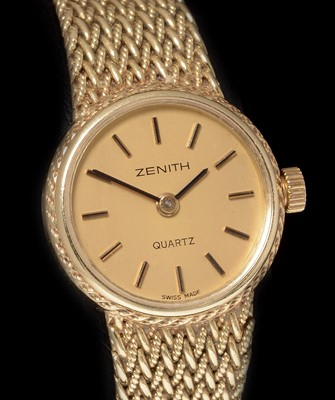 Lot 28-Zenith 14k gold lady's cocktail watch