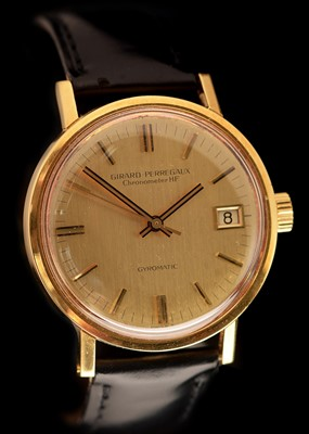 Lot 29-18k gold Girard Perregaux Gyromatic Chronometer HF
