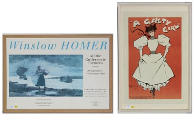 Lot 9-After Dudley Hardy - two prints.