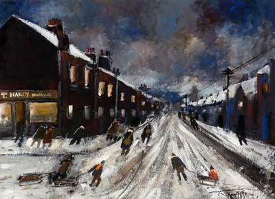 Lot 277-Malcolm Teasdale - gouache.