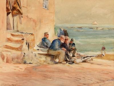 Lot 308-Robert Jobling - watercolour.