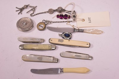 Lot 316-Jewellery and fruit knives