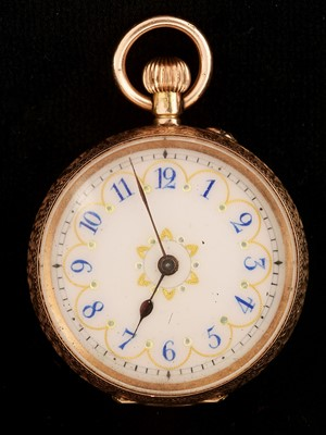 Lot 32-Gold fob watch