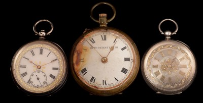 Lot 33-three pocket watches