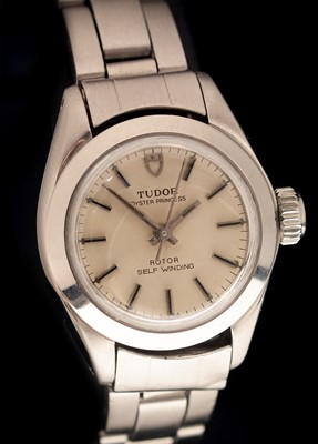 Lot 26-Tudor Oyster Princess Rotor self wind lady's watch