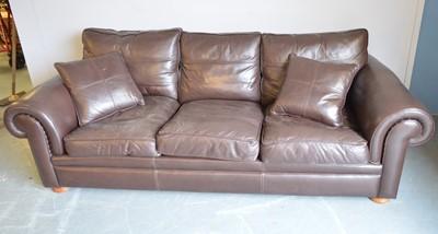 Lot 623 - Duresta leather sofa