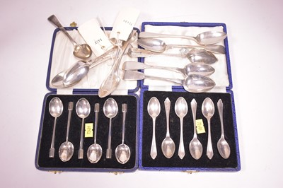 Lot 302-A selection of silver teaspoons