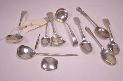 Lot 317-Keswick School and other silver spoons