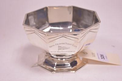 Lot 326-Silver sugar bowl