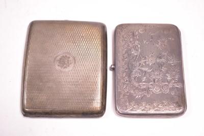 Lot 331-A silver note case and cigarette case