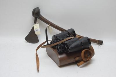 Lot 263 - African Axe and binoculars