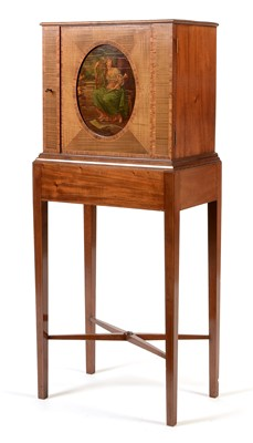 Lot 834 - Gillows satinwood music cabinet