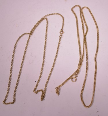 Lot 22 - Two gold chain necklaces
