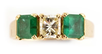 Lot 42-Emerald and diamond ring
