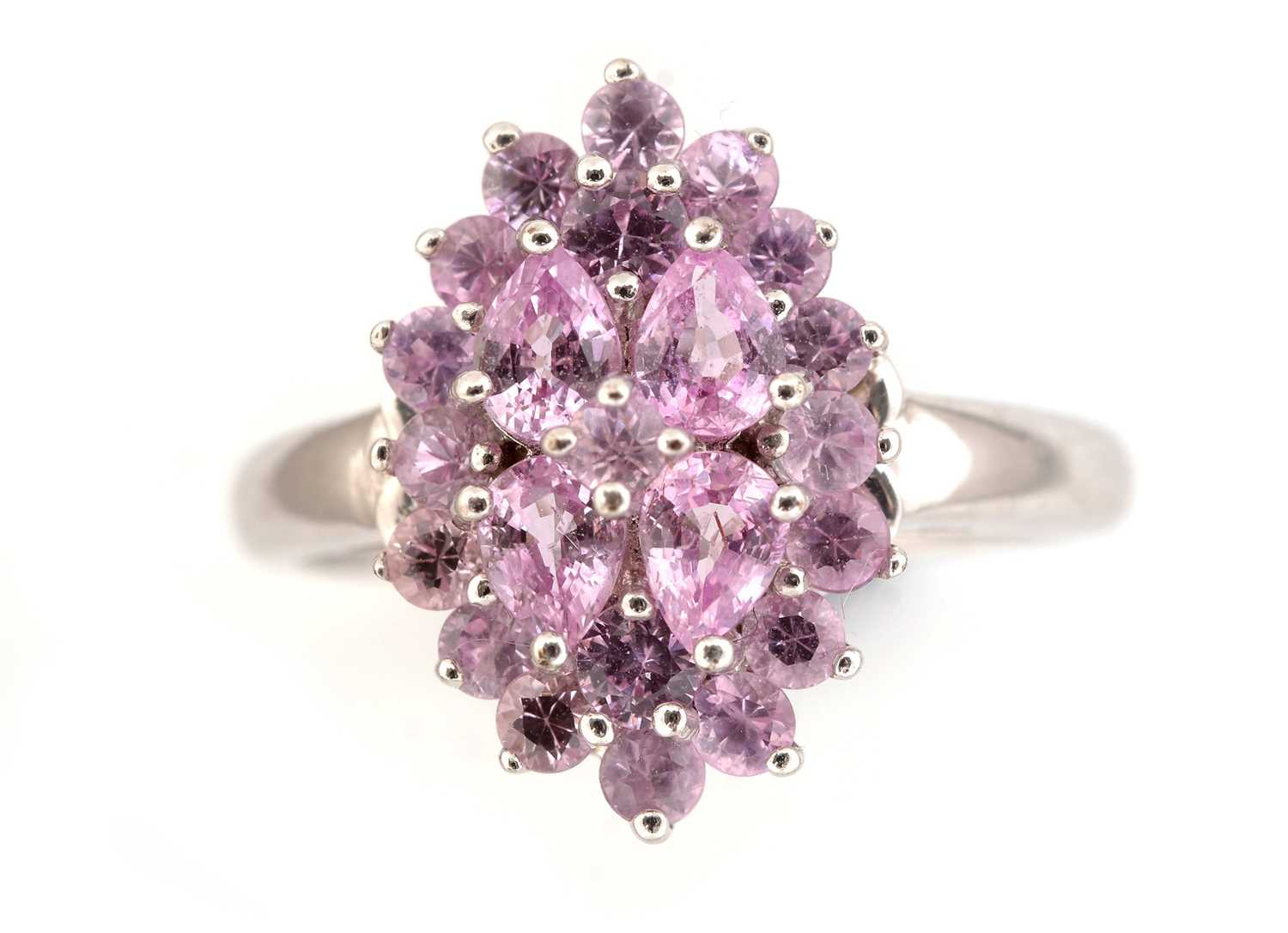 Lot 43-Pink sapphire dress ring