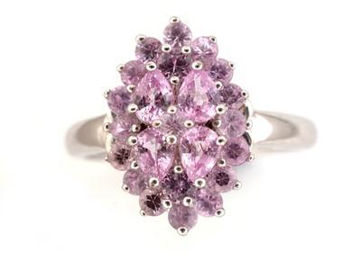 Lot 43-Pink sapphire dress ring