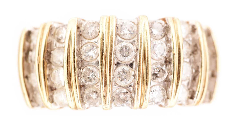 Lot 63-Diamond dress ring