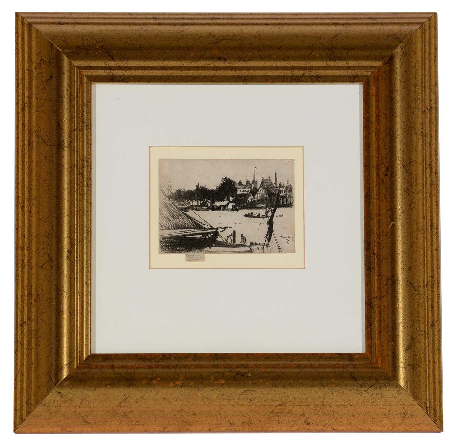 Lot 271-Theodore Roussel - etching.