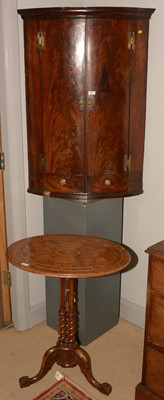 Lot 543 - Victorian walnut occasional table and a corner cabinet