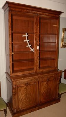Lot 714 - Victorian mahogany bookcase