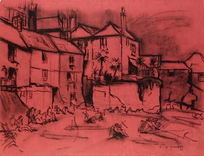 Lot 312-Thomas McGuinness - watercolour.