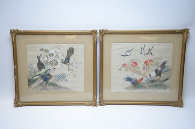 Lot 513 - Chinese paintings on silk