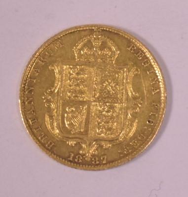 Lot 1-Gold half sovereign