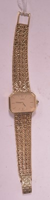 Lot 7-Ladies gold Omega cocktail watch