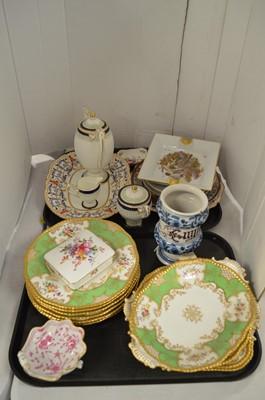 Lot 193 - Mixed ceramics including Coalport, Wedgwood Maiolica and Limoges