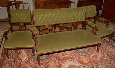 Lot 713 - Edwardian Rosewood salon suite
