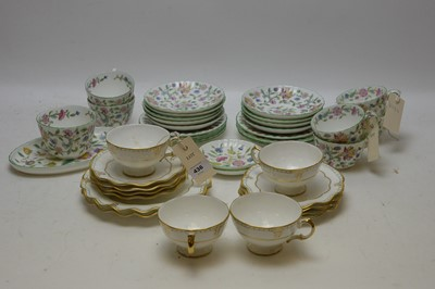 Lot 436 - Two tea sets by Crown Derby and Haddon Hall