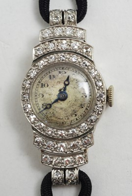 Lot 175 - Vertex diamond cocktail watch