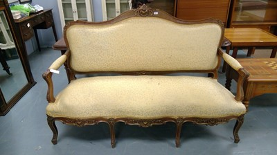 Lot 651 - 20th Century French canape