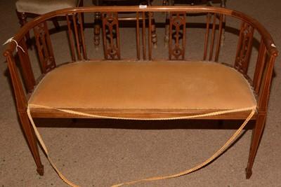 Lot 627 - An Edwardian mahogany bench