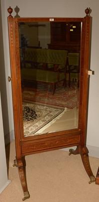 Lot 699 - An Edwardian cheval mirror
