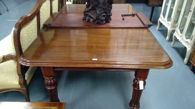 Lot 650 - Victorian mahogany extending dining table