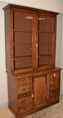 Lot 703 - A Victorian rosewood estate cabinet