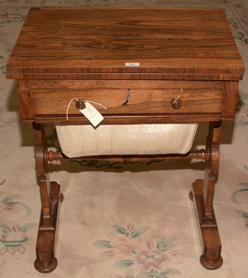 Lot 709 - Victorian Rosewood work table
